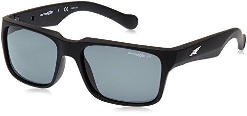 Arnette d street 447/81 55 occhiali da sole, nero (fuzzy black/polargray), uomo