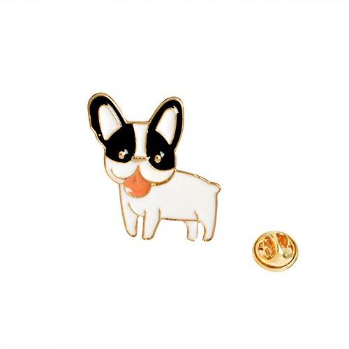 JTXZD Brosche Niedlicher Cartoon-Welpen-Pudel Pomeranian-Corgi-Bulldoggen-Hundebroschen-Harter Emaille Pin Lapel Pin Badge für s des Hundes (Pomeranian-mix)
