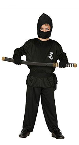 Guirca - Disfraz de ninja, talla 5-6 años, color negro (78571)