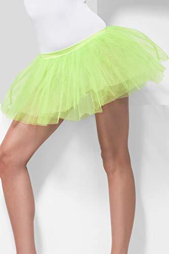 Smiffys Damen Tutu Unterrock, 4 Lagig, Länge: 30 cm, One Size, Neon Grün, 31868 (30 Days Of Night Kostüm)