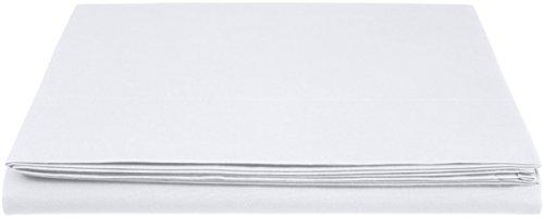AmazonBasics 'Everyday' Bettlaken aus 100% Baumwolle, 240 x 320 cm - Weiß