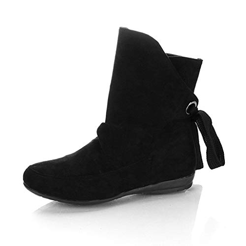 MOTOCO Women Boots Ladies Flat Lace Up Buckle Shoes Roman Ankle Short Booties