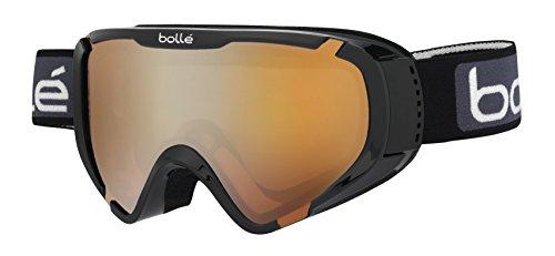 Bollé explorer otg maschera da sci, unisex bambini, shiny black, small