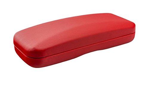 Preisvergleich Produktbild Einfarbiges Hartschalenetui in Metallic-Optik - in verschiedenen Farben (Rot)