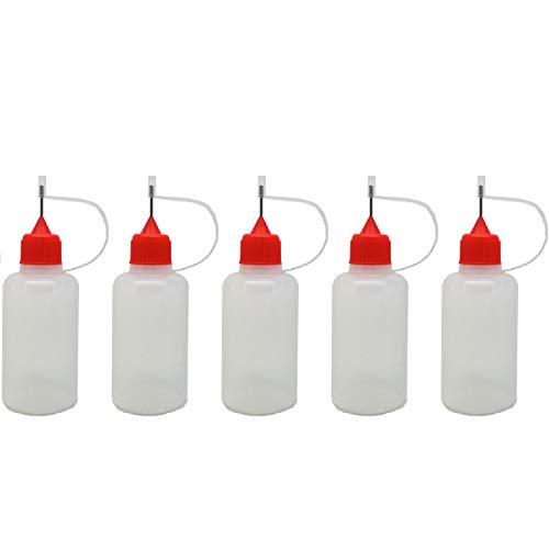 5pcs x Empty Plastic Squeezable Liquid Dropper Filling Bottles E