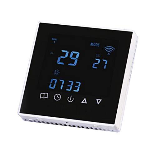 WLPT Elektronischer Raum-WiFi-Thermostat Programmierbar für die Steuerung der Kühl- und Lüftergeschwindigkeit Touchscreen-Fernbedienung -