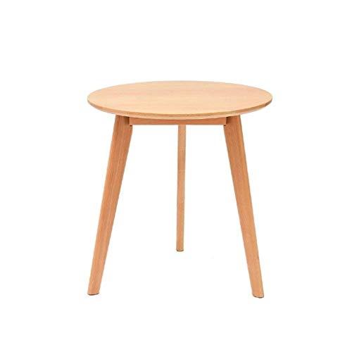ZBM-ZBM Esstisch Aus Massivem Holz, Einfacher Runder Tisch, Buche, Kleines Apartment, Esstisch Für Zu Hause, Farbe Nussbaum, Kleiner Beistelltisch Mit Sofa (Color : Wood Color, Size : 70 * 71cm) -