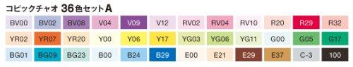 Copic ciao SET 22075361 mit 36 Stiften Set A COPIC Marker Copicset Markerset Sort. - 2