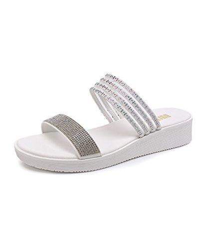 CHAOXIANG Pantofole Da Donna Antiscivolo Ciabatte Piatte Sandali Da Surf Nuova Estate Ciabatte Spiaggia ( Colore : C , dimensioni : EU35/UK3/CN35 ) B