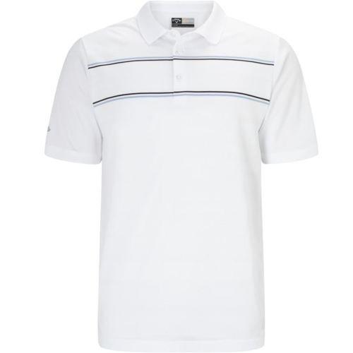 Callaway Golf Engineered Polo Jacquard, Herren, Weiß, L (Golf-kleidung Footjoy)