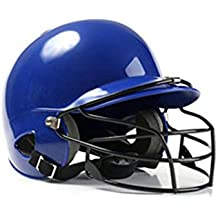 StageOnline Baseball Helme, Casco de béisbol binaural con 2 Protectores auditivos y máscara Protectora,