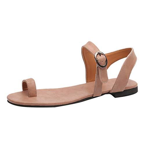 Makefortune 2019 Damen Sandals, Frauen Römische Sandalen, Gürtelschnalle Strand Bohemia Abendschuhe Outdoor Schuhe Flache Schuhe Flach Boden Hausschuhe Bequeme Schuhe Freizeitschuhe