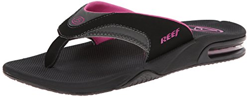 Reef - Fanning, Infradito  da donna, multicolore (black/grey/berry),