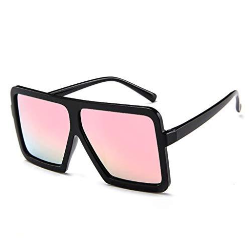 LCLrute Sonnenbrillen,Frauen Männer Vintage Retro Glas-Unisex große Feld-Sonnenbrille Brillen Verspiegelt UV-Schutz