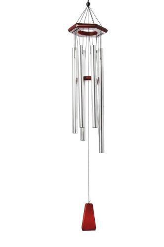 Galleria fotografica Bellissimo carillon di vento, 100% fatto a mano, pronto per appendere, Barre d'argento e placca zen, Mod. Y1006B