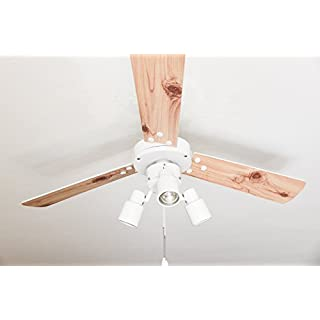 AireRyder Ceiling Fan with Light and Pull Switch, Metal, GU10, 55 W, White
