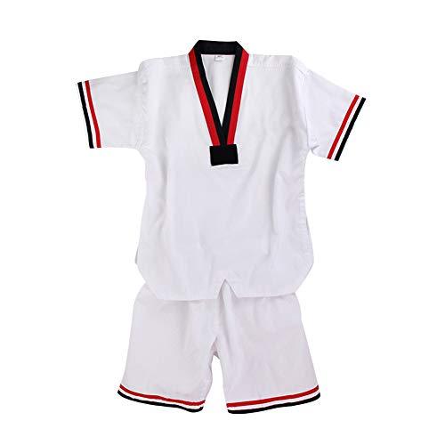 Gtagain Bambino Adulto Dobok Taekwondo Abbigliamento Studenti Principianti Kung Fu Karate Completo Uniforme Vestito Arte Marziale Allenamento Scollo