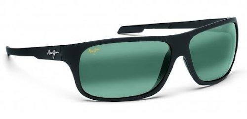maui-jim-237-2m-matte-black-rubber-island-time-rectangle-sunglasses-polarised-s