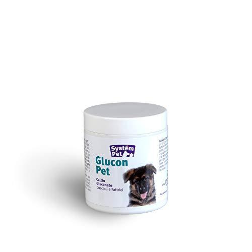 Integratori di calcio per cani in allattamento: Glucon Pet mangime complementare con apporto di Calcio per Cuccioli e Cani in Gravidanza 100 pastiglie 130gr