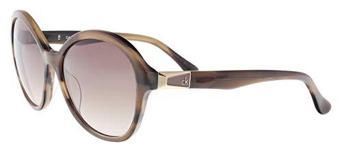 Calvin Klein Damen oK Sonnenbrille, Brown, 56