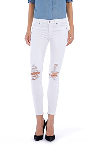 7 for all mankind Damen Jeans Style: Colored Slim Illusion Farbe: Distressed White Gr. 29/32 Super Skinny Jeans sitzt super eng.
