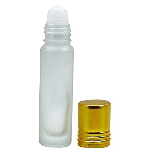 10 ml Empty Glass rouler sur des bouteilles avec bouchon doré rechargeables essentielles Flacons Huile roll-on de gros rouleaux Aromathérapie Bouteilles 12 Pcs