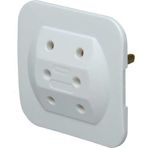 Preisvergleich Produktbild 10er Packung Kopp 174902005 Adapter 3-fach extra flach, weiß