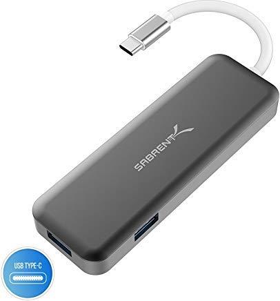 Sabrent Hub USB Tipo C con HDMI e 2 Porte USB 3.0, [Supporta 4K e 60W di Potenza Erogata] (HB-U2HC)