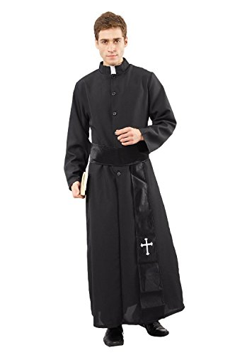 Priester Pfarrer De Luxe Kostüm Herren Fasching Herren (Für Kostüme Erwachsene Bibel)