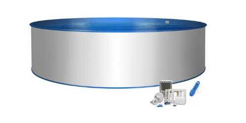 Pool Basic redondo forma Diámetro 6,00m x 1,20m Funda interior 0,8mm & 0,6mm Revestimiento...