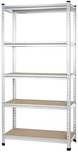 AmazonBasics - Standregal für mittelschwere Gegenstände, durchgehende Stangen, Spanplatten, 91 x 45 x 182 cm