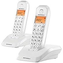 Motorola S1202 Duo - Teléfono fijo inalámbrico, color blanco
