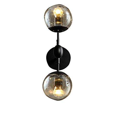 Lampada Da Parete Della Lampadina Sfera Di Vetro Ingegneria Stile Europeo Lampada Da Parete Retrò Corridoio Industriale Soggiorno E27