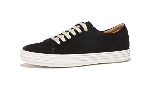OPP Unisex Cuero Cordones Plataforma Zapatos(44EU Negro) QEnDMqcEVK