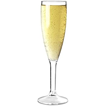 Elite Premium Polycarbonate Champagne Flutes 7oz / 200ml - Pack of 12 | Plastic Reusable Champagne Glasses, Virtually Unbreakable Polycarbonate Plastic - Ideal for Parties, Outdoors & Event Catering