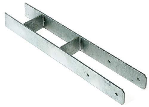 H-Anker 91 für Pfosten 9x9 cm Materialstärke: 6 mm Länge 600 mm von Gartenpirat®