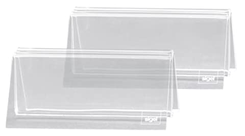 Sigel TA150 Lot de 2 Porte-cartes menu, 10 x 5 x 6 cm, acrylique transparent