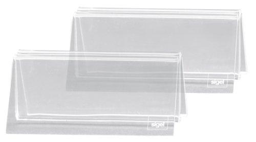 Sigel TA150 Kartenhalter mit Klemmfunktion, für alle Formate, Acryl glasklar, 10 x 5 x 6 cm, 2 Stück