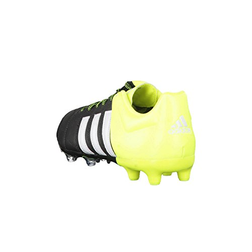 Chaussures Adidas ACE 15.2 FG/AG Leather core black /white/yellow