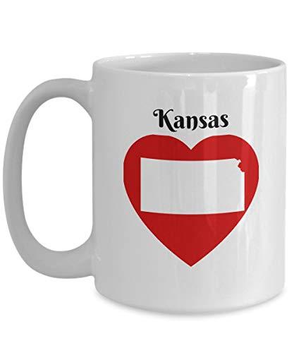Coffee mug, Funny Coffee Mug Gift Kansas Heart KS State Outline Map Souvenir -