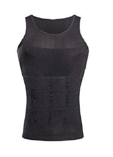 Schlankheits Unterhemd für Männer Gewichtsabnahme Entfernung von Bauchfett Hüftgold Schlankmachender Bodyformer Straffung des Unterbauchs Unterstützung des Rückens Formender Fit, XX-Large Grau