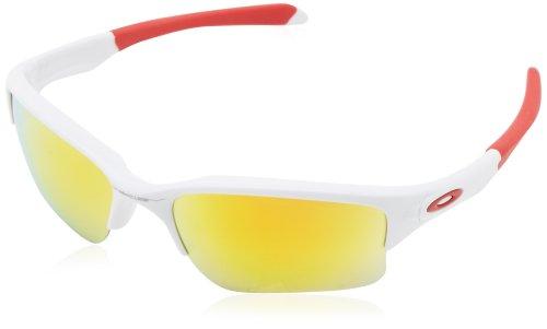 Oakley Herren Brille Quarter Jacket W/Fire Irid Sonnenbrille, Weiß (White Iridium), 61