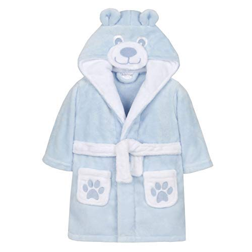 BABY TOWN Baby Jungen (0-24 Monate) Bademantel blau blau Gr. 80, blau