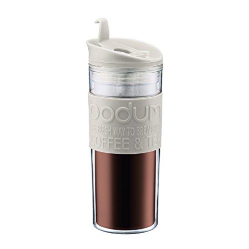 Bodum - 11101-913 - Mug de Voyage Plastique - 0,45 L - Blanc