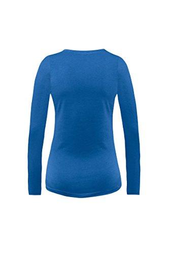 bellybutton Philine-Schlafanzugshirt 1/1 Arm, Haut de Pyjama pour Enceinte Femme Blau (true 3580)