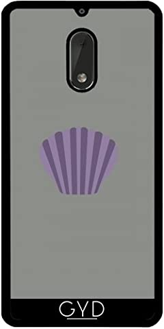 Coque Silicone pour Nokia 6 - Enveloppe Mauve by ilovecotton