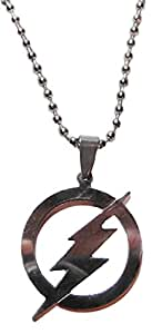 """DC Comics THE FLASH Logo Stainless Steel Pendant NECKLACE w/ 22"""" Chain"""