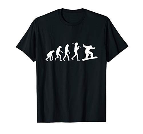 Snowboarder T-Shirt Snowboard Evolution für Boarder T-Shirt (Snowboard T-shirts)