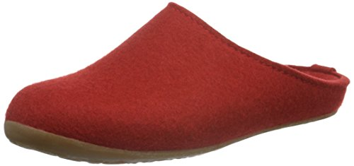 Haflinger Unisex-Erwachsene Everest Fundus Pantoffeln Rot (Rubin 11) 40 EU