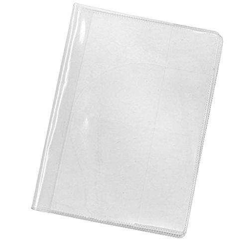 P prettyia porta passaporto con slot per carte impermeabile per documenti di viaggio - trasparente